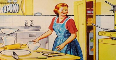 madre cocinando